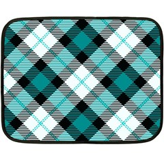 Smart Plaid Teal Fleece Blanket (Mini)