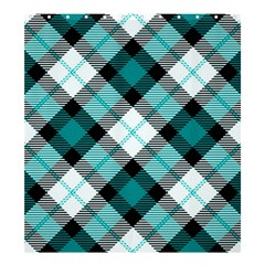Smart Plaid Teal Shower Curtain 66  x 72  (Large)
