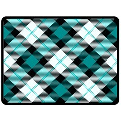 Smart Plaid Teal Fleece Blanket (Large)