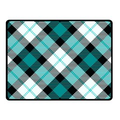 Smart Plaid Teal Fleece Blanket (Small)