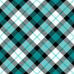 Smart Plaid Teal Magic Photo Cubes