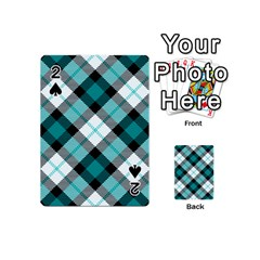 Smart Plaid Teal Playing Cards 54 (mini)