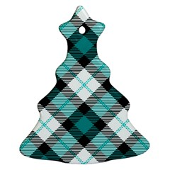 Smart Plaid Teal Ornament (Christmas Tree)