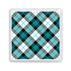 Smart Plaid Teal Memory Card Reader (Square)