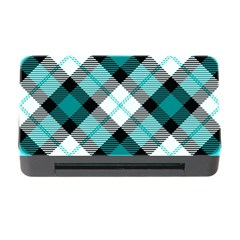 Smart Plaid Teal Memory Card Reader With Cf