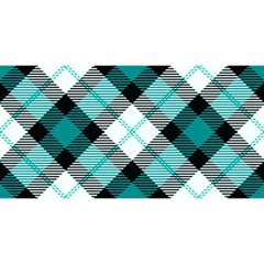 Smart Plaid Teal You Are Invited 3d Greeting Card (8x4)