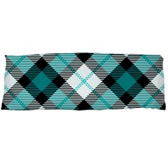 Smart Plaid Teal Body Pillow Cases Dakimakura (Two Sides)