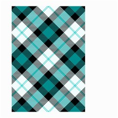 Smart Plaid Teal Small Garden Flag (Two Sides)