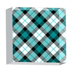 Smart Plaid Teal 5  x 5  Acrylic Photo Blocks