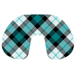 Smart Plaid Teal Travel Neck Pillows