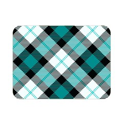 Smart Plaid Teal Double Sided Flano Blanket (Mini)