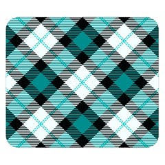 Smart Plaid Teal Double Sided Flano Blanket (Small)