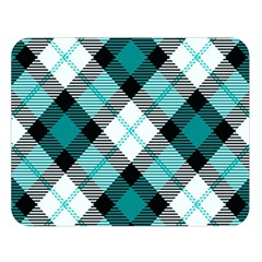Smart Plaid Teal Double Sided Flano Blanket (large)