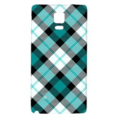 Smart Plaid Teal Galaxy Note 4 Back Case