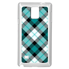 Smart Plaid Teal Samsung Galaxy Note 4 Case (White)