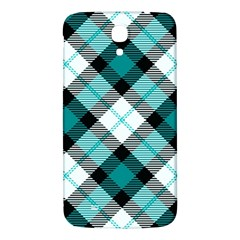 Smart Plaid Teal Samsung Galaxy Mega I9200 Hardshell Back Case