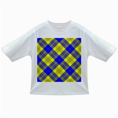 Smart Plaid Blue Yellow Infant/toddler T Shirts
