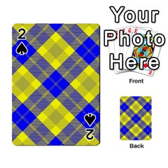 Smart Plaid Blue Yellow Playing Cards 54 Designs