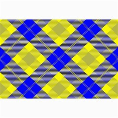 Smart Plaid Blue Yellow Collage 12  x 18