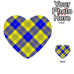 Smart Plaid Blue Yellow Multi-purpose Cards (Heart)
