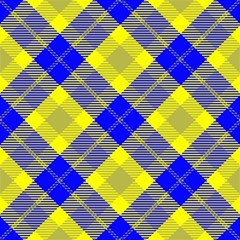 Smart Plaid Blue Yellow Magic Photo Cubes