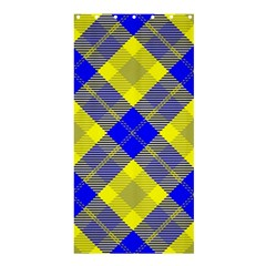 Smart Plaid Blue Yellow Shower Curtain 36  x 72  (Stall)