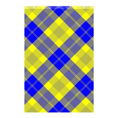 Smart Plaid Blue Yellow Shower Curtain 48  x 72  (Small)