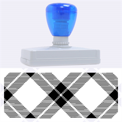 Smart Plaid Blue Yellow Rubber Address Stamps (XL)