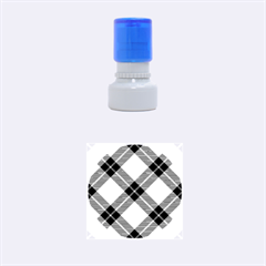 Smart Plaid Blue Yellow Rubber Round Stamps (Small)