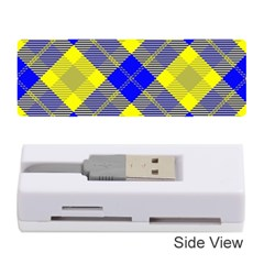 Smart Plaid Blue Yellow Memory Card Reader (stick)