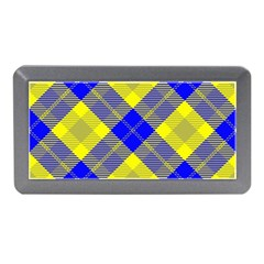 Smart Plaid Blue Yellow Memory Card Reader (Mini)
