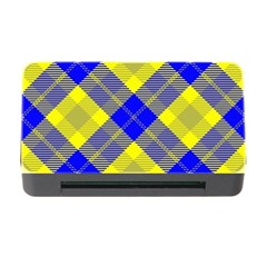 Smart Plaid Blue Yellow Memory Card Reader with CF