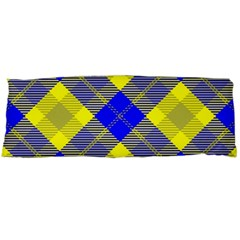 Smart Plaid Blue Yellow Body Pillow Cases Dakimakura (Two Sides)