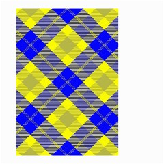 Smart Plaid Blue Yellow Small Garden Flag (Two Sides)