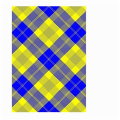 Smart Plaid Blue Yellow Large Garden Flag (Two Sides)