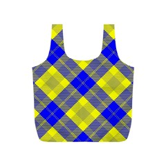 Smart Plaid Blue Yellow Full Print Recycle Bags (s)