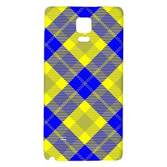 Smart Plaid Blue Yellow Galaxy Note 4 Back Case