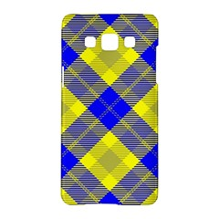 Smart Plaid Blue Yellow Samsung Galaxy A5 Hardshell Case