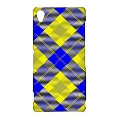 Smart Plaid Blue Yellow Sony Xperia Z3