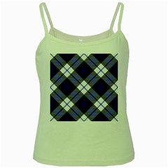 Smart Plaid Blue Green Spaghetti Tanks