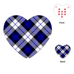 Smart Plaid Blue Playing Cards (heart)