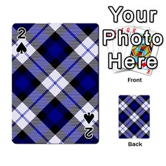 Smart Plaid Blue Playing Cards 54 Designs