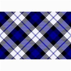 Smart Plaid Blue Collage 12  x 18