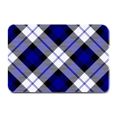 Smart Plaid Blue Plate Mats