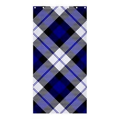 Smart Plaid Blue Shower Curtain 36  x 72  (Stall)