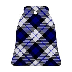 Smart Plaid Blue Ornament (Bell)