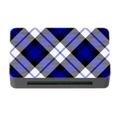 Smart Plaid Blue Memory Card Reader With Cf