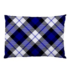 Smart Plaid Blue Pillow Cases (two Sides)