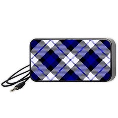 Smart Plaid Blue Portable Speaker (black)