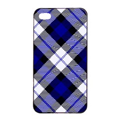 Smart Plaid Blue Apple iPhone 4/4s Seamless Case (Black)